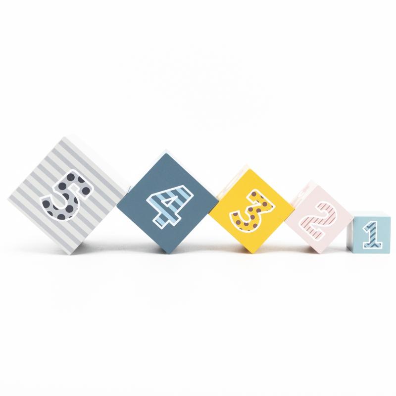 Дървени кубчета за подреждане и сортиране на форми от Viga toys-bellamiestore