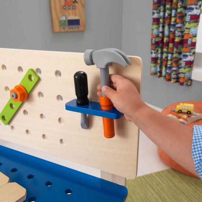 Дървена работилница с инструменти KidKraft-bellamiestore