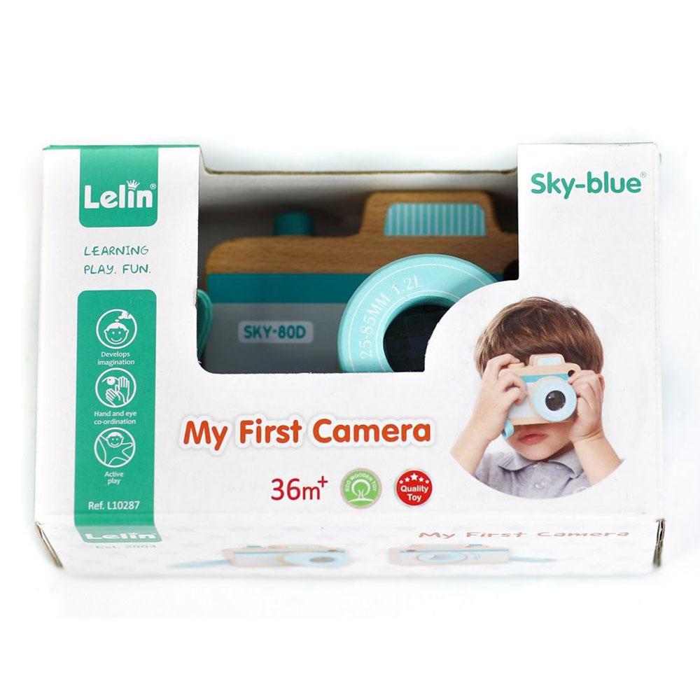 Детски дървен фотоапарат от Lelin toys-bellamiestore