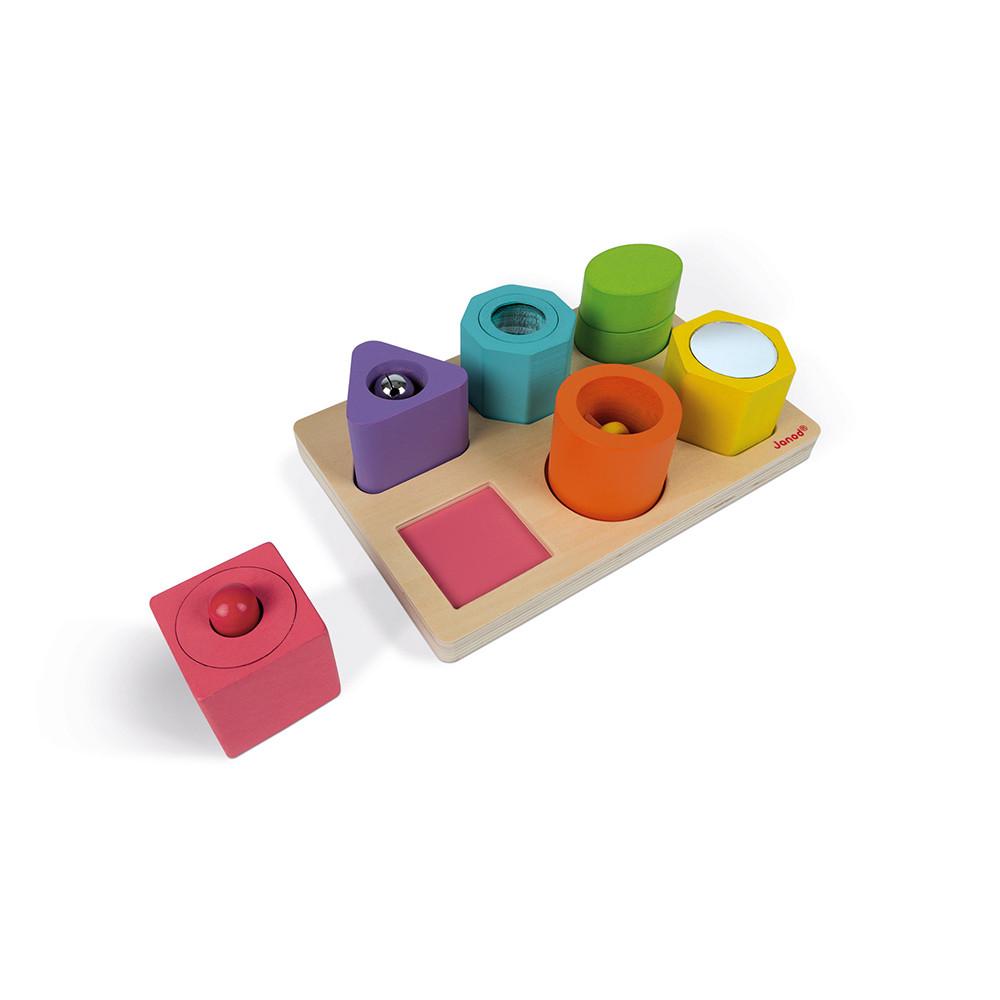 Детски пъзел с форми и звуци от Janod-bellamiestore