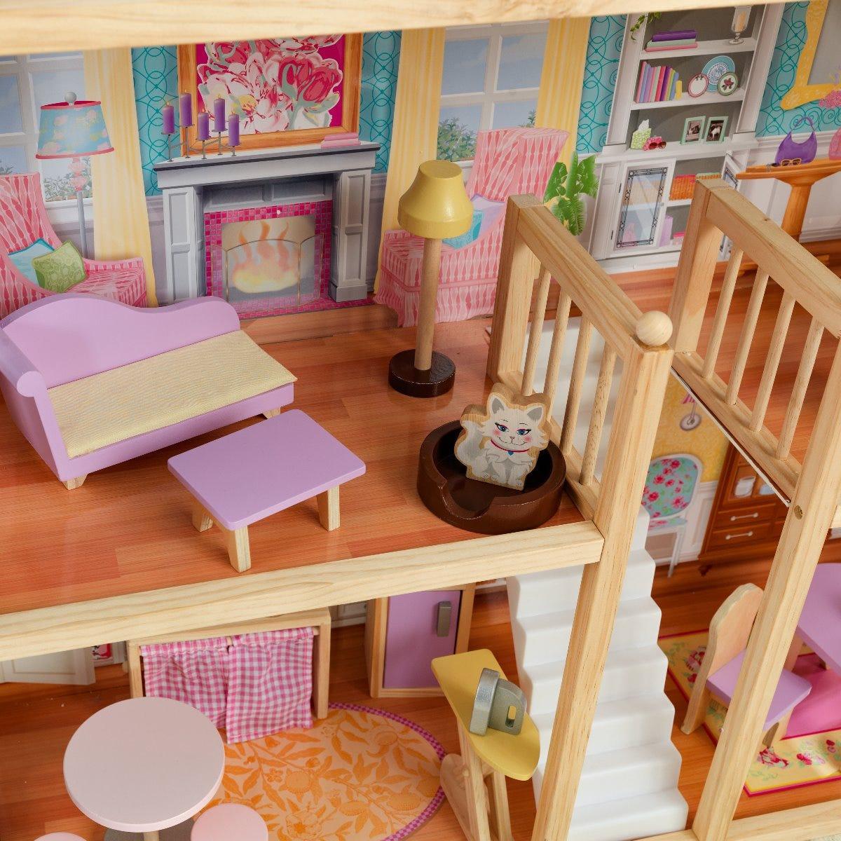 Голямата просторна къща за кукли от KidKraft-bellamiestore