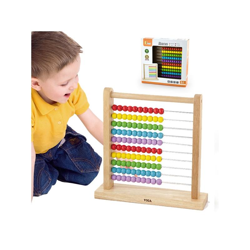 Класическо дървено сметало от Viga toys образователни играчки-bellamiestore