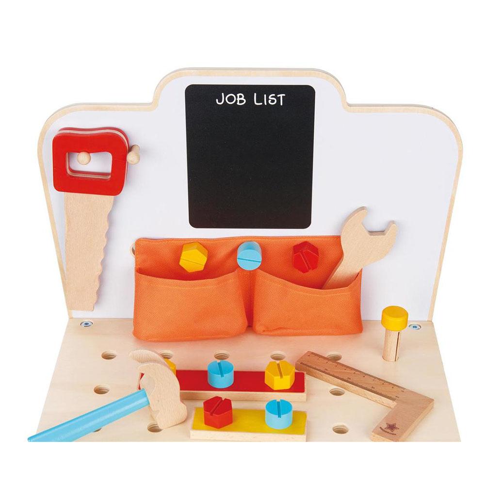 Моята първа дървена работилница с инструменти от Lelin toys-bellamiestore