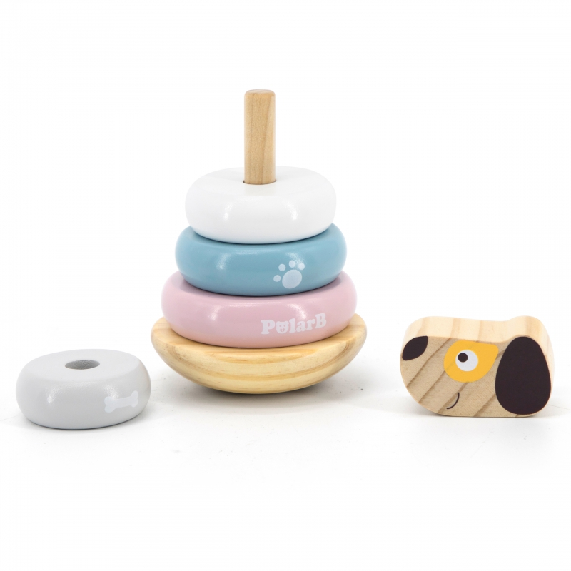 PolarB рингове за нанизване с кученце от Viga toys-bellamiestore