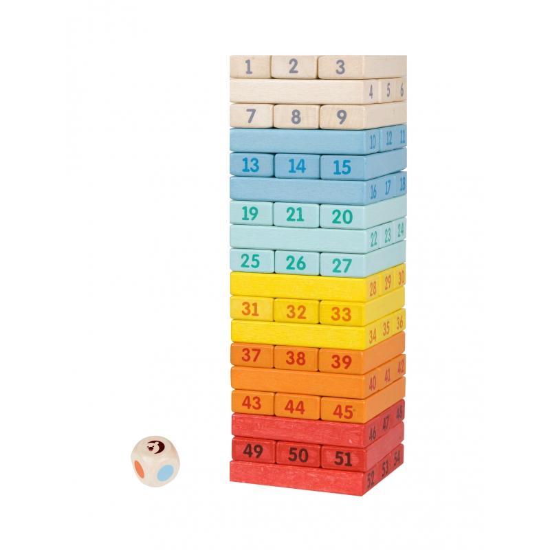 Дървена игра с цифри Дженга от Classic world-bellamiestore