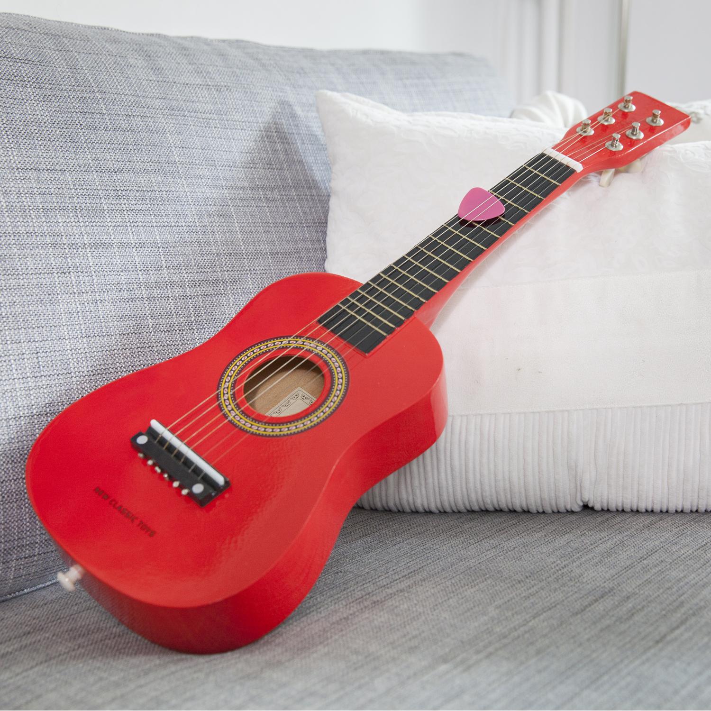 Детска китара червена - New classic toy музикални инструменти-bellamiestore