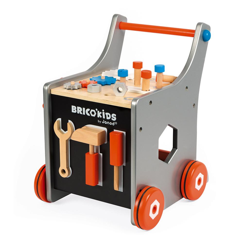 Janod Дървена роботилница на колела с аксесоари-bellamiestore