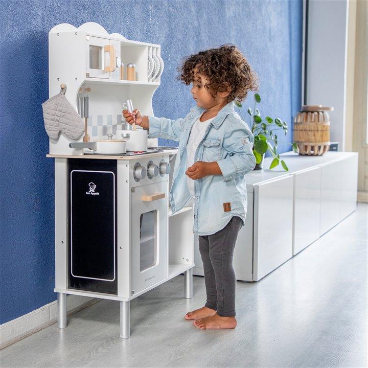 New classic toys модерна детска дървена кухня с аксесоари-bellamiestore