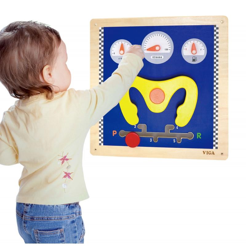 Дървена играчка - Кормило за стена от Viga toys-bellamiestore