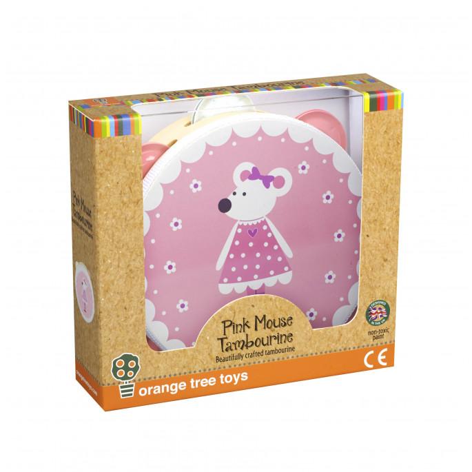 Дървено дайре за деца Розово Мишле-bellamiestore
