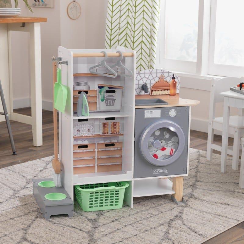Детска дървена кухня и перално отделение 2 в 1 от Kidkraft-bellamiestore