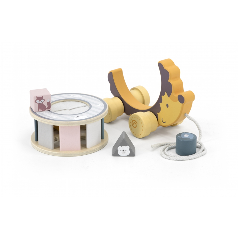 Детска играчка за дърпане и сортиране Таралеж Polar B-bellamiestore