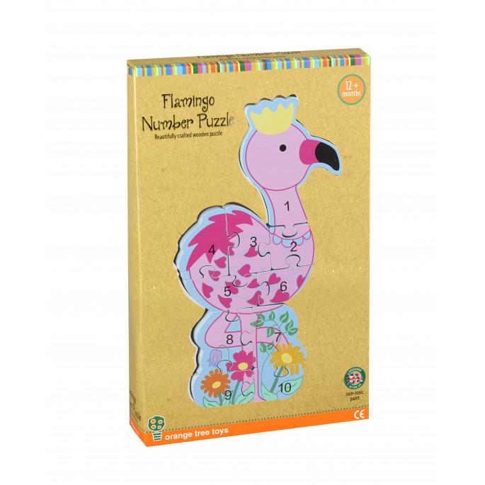 Детски вертикален пъзел Фламинго от Orange tree toys-bellamiestore