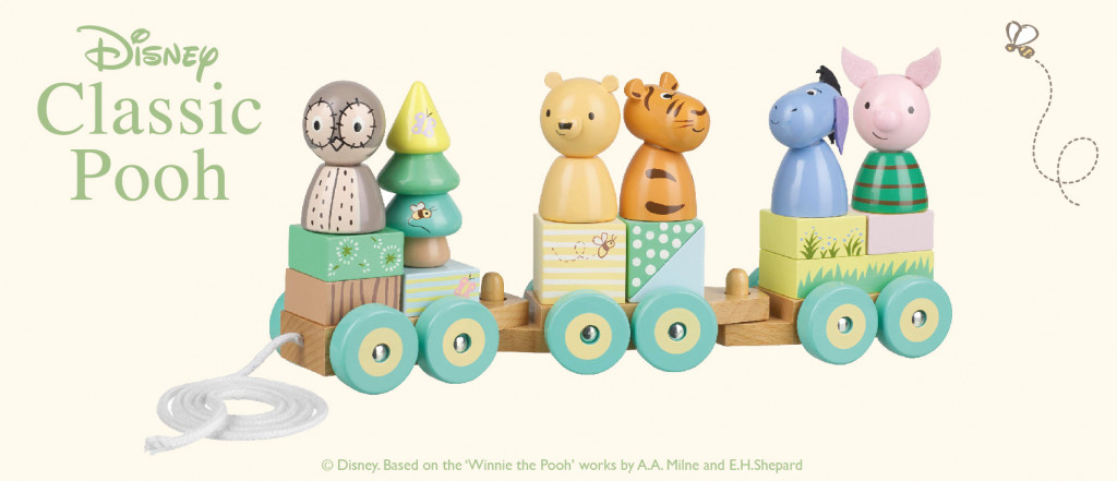Disney дървено влакче за дърпане Мечо Пух-bellamiestore