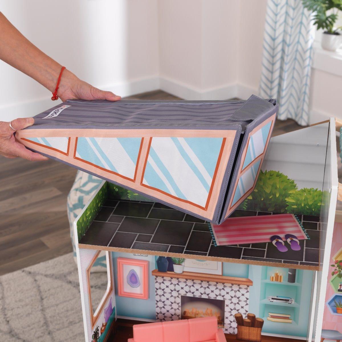 Къщичка за кукли с магнитно преобразяване от KidKraft-bellamiestore