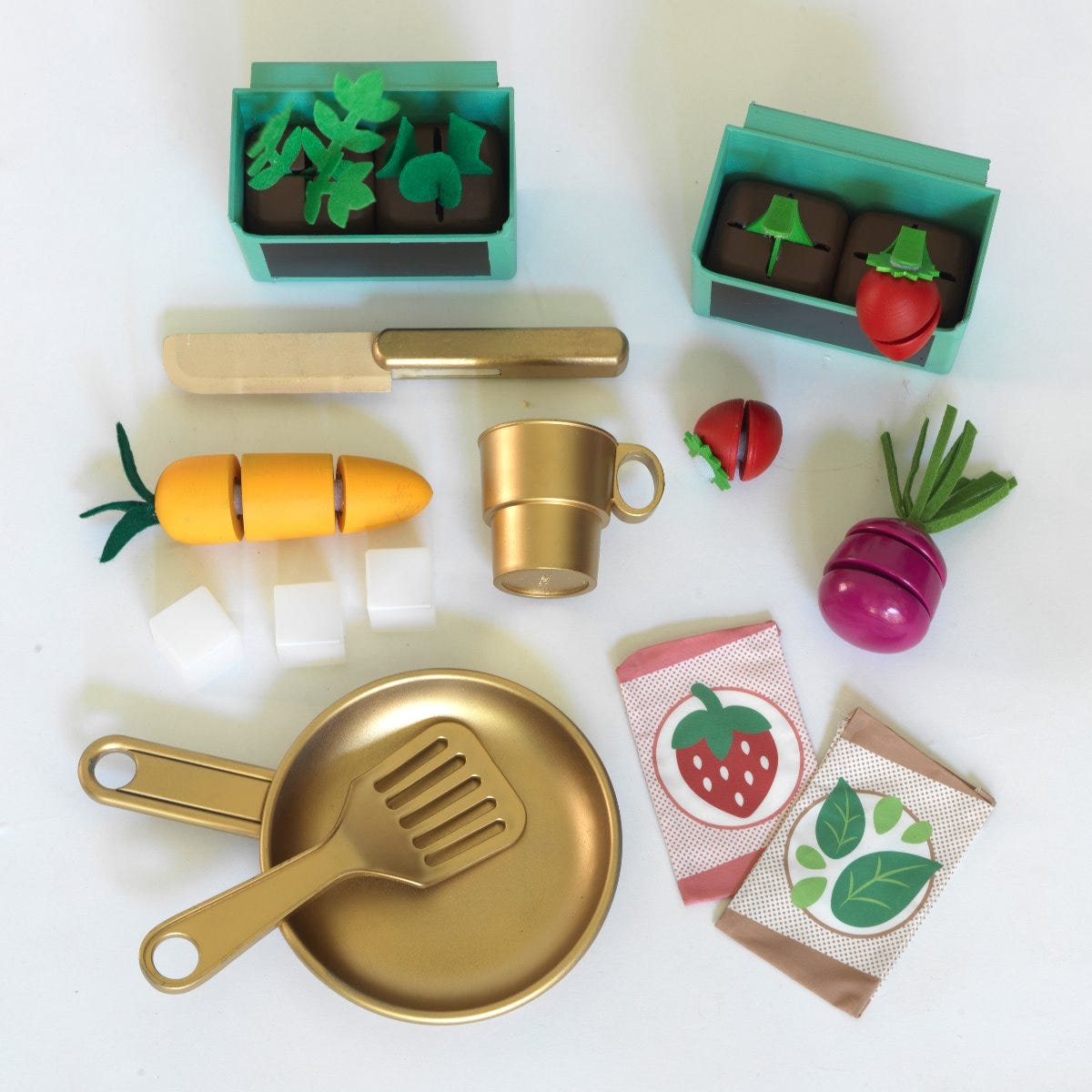 KidKraft детска кухня за игра с градина на терасата-bellamiestore