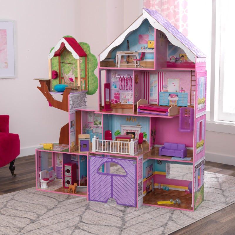KidKraft Къща - Имение за кукли с дърво-bellamiestore