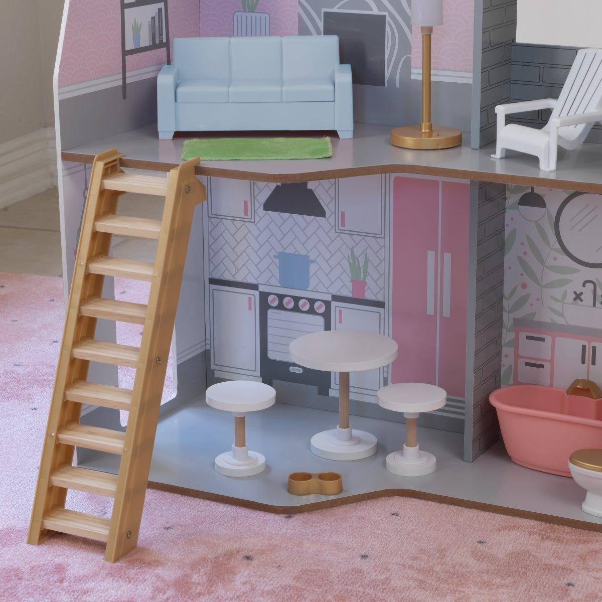 Kidkraft къща за кукли Алина от дърво-bellamiestore