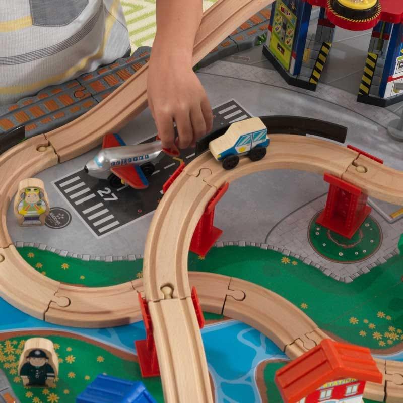 Kidkraft маса за игра с влакова писта - Водопади-bellamiestore