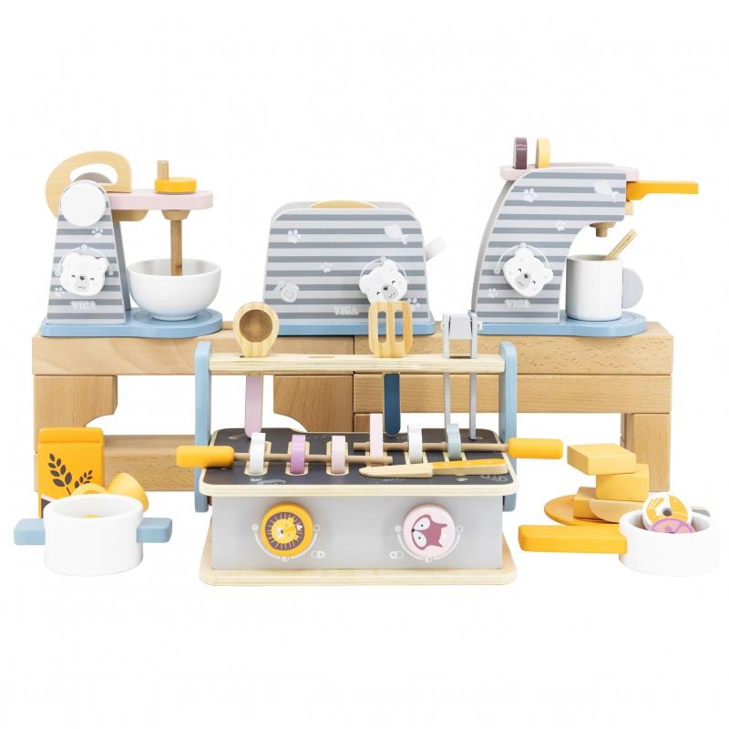 Комплект дървен детски тостер Polar B от Viga toys-bellamiestore