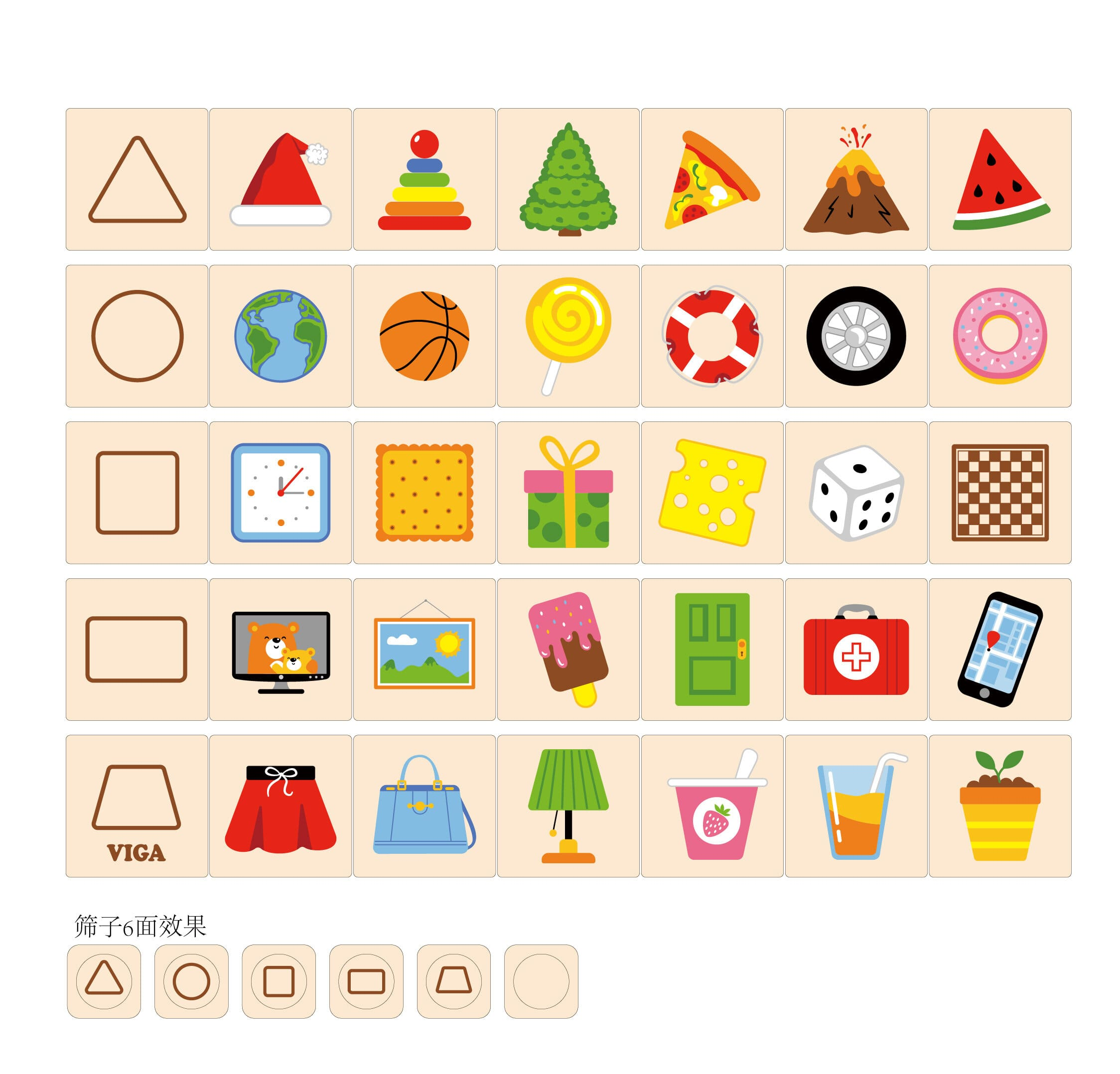Образователнa игра Уча геометричните форми от Viga toys-bellamiestore