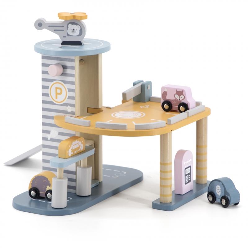 Viga Polar B дървена играчка - гараж за коли-bellamiestore