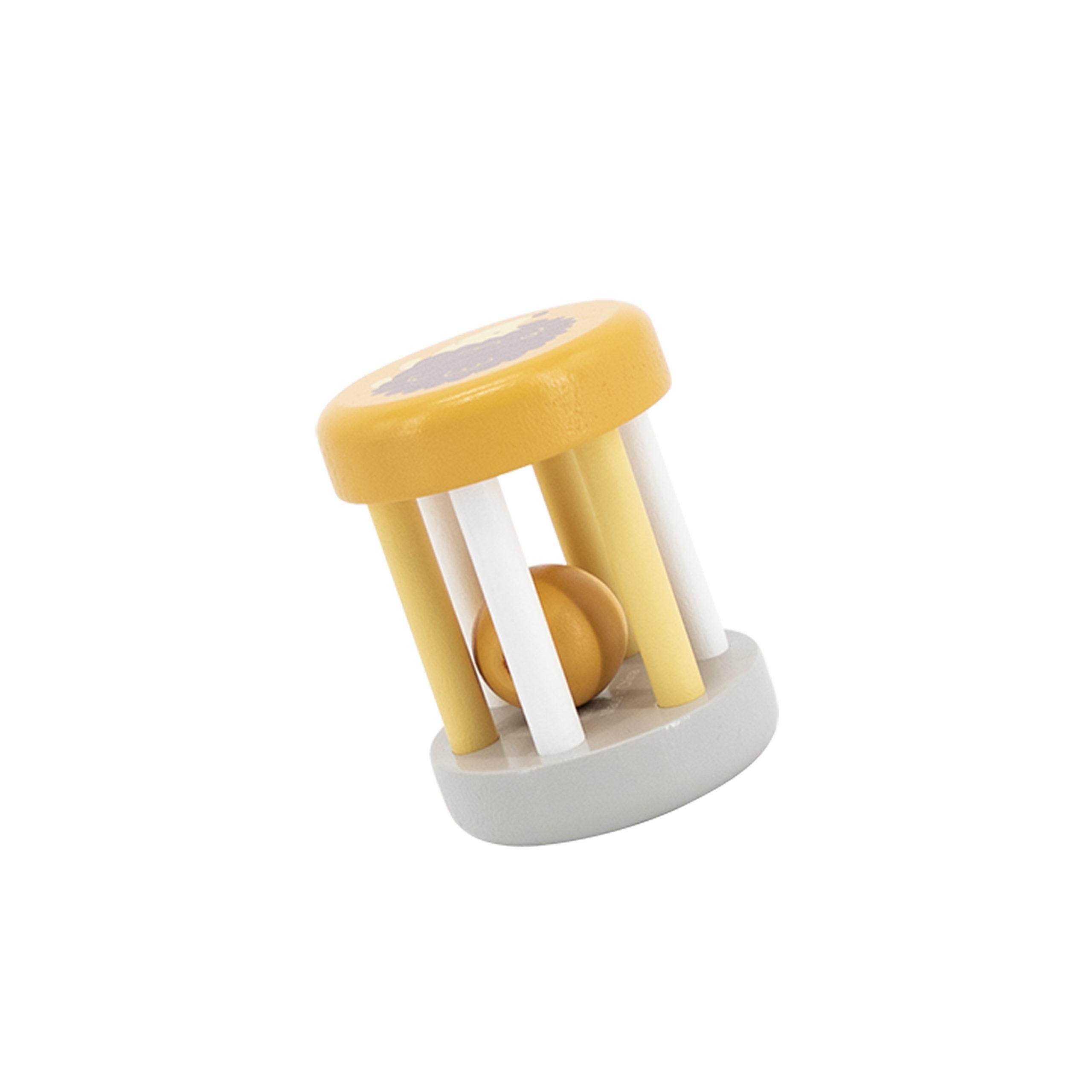 Viga toys дървена дрънкалка жълта-bellamiestore