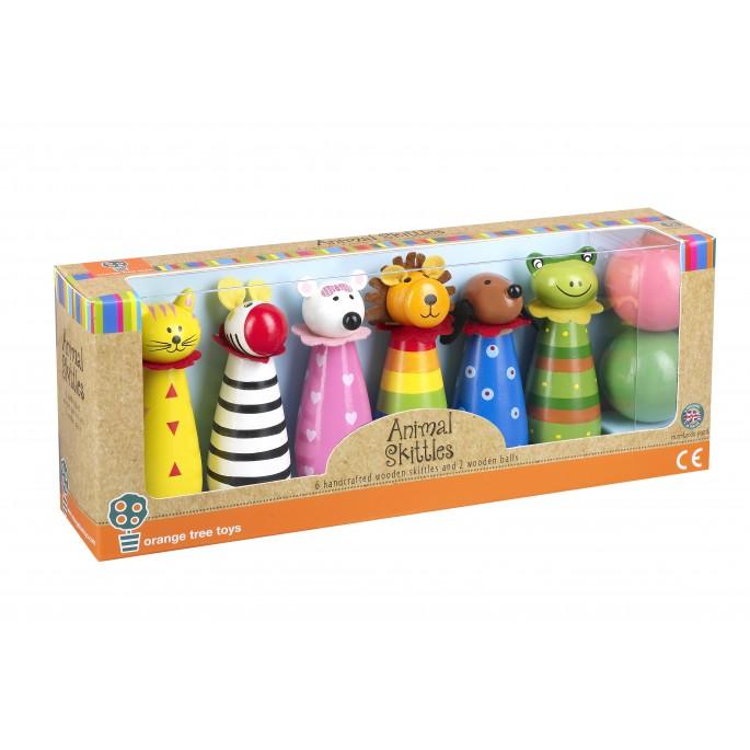 Занимателна игра - детски боулинг с животни-bellamiestore