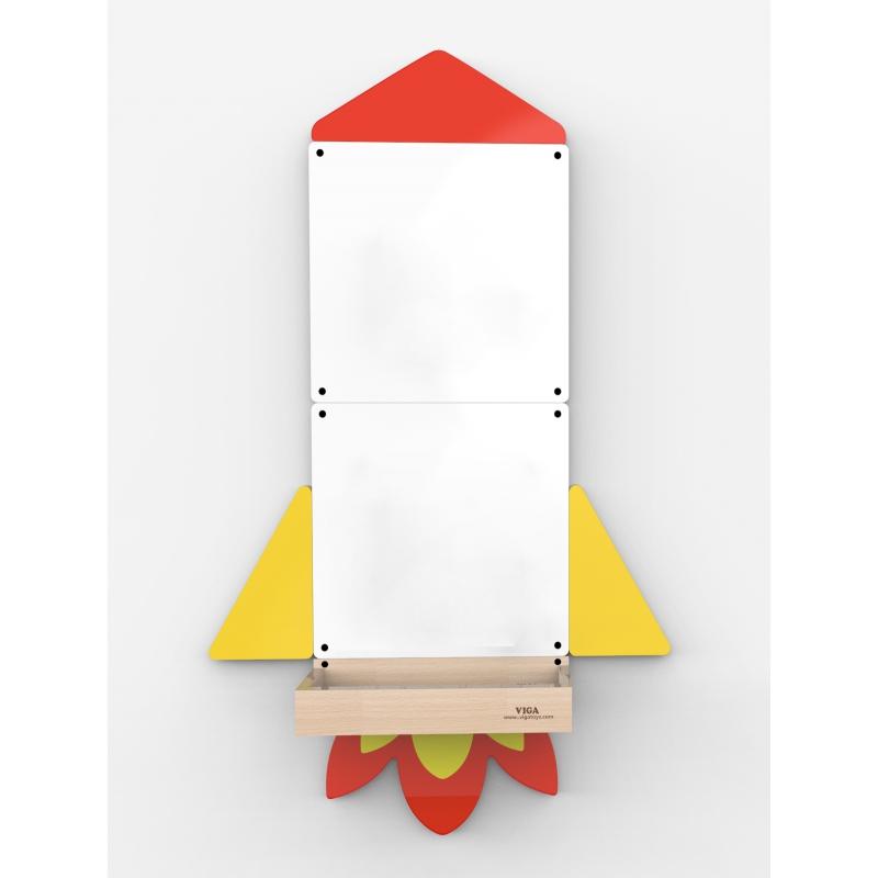 Дървена магнитна дъска за стена Ракета от Viga toys-bellamiestore