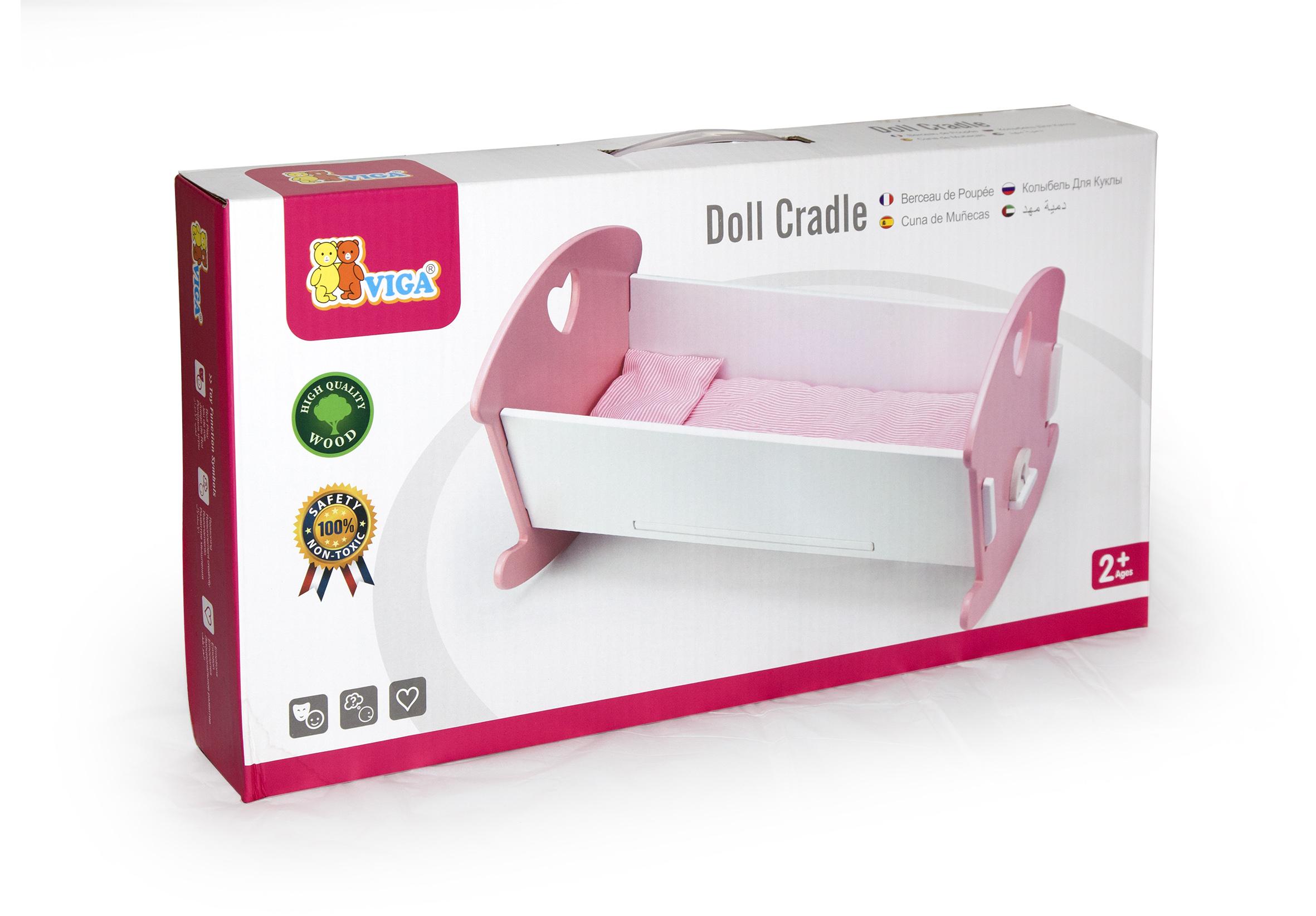 Дървено легло - люлка за кукли от Viga toys-bellamiestore