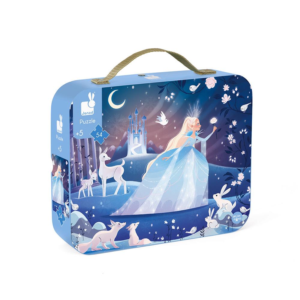 Детски пъзел в куфарче Ледено очарование от Janod-bellamiestore