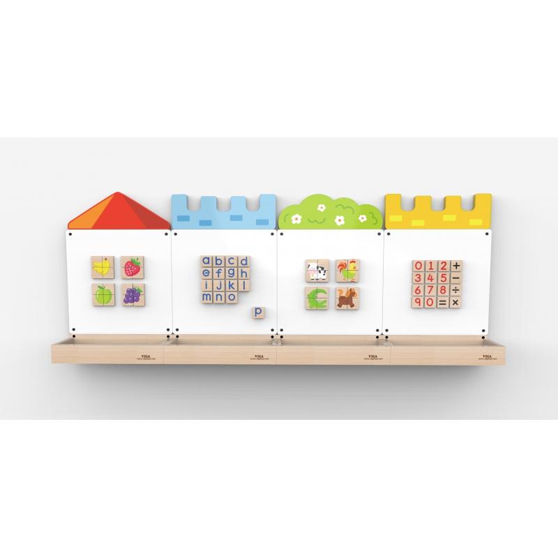 Магнитна дъска за стена Замък за детски градини и центрове-bellamiestore