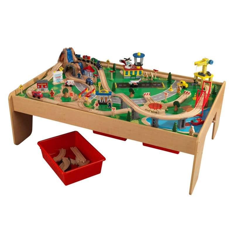 Маса за игра с детски влакчета - Планината от Kidkraft-bellamiestore