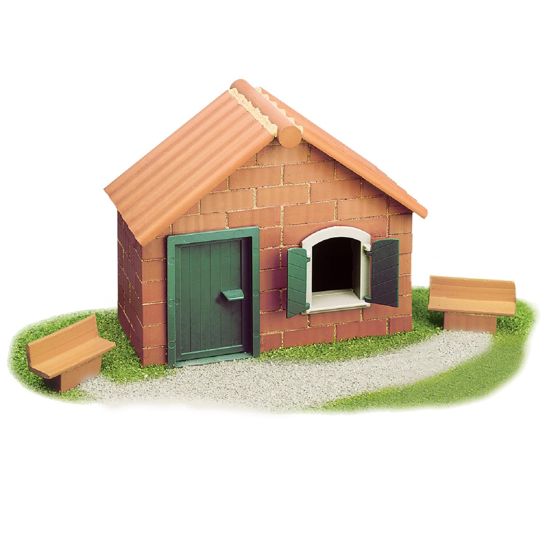 Teifoc конструктор с тухли - Къща с пейка-bellamiestore