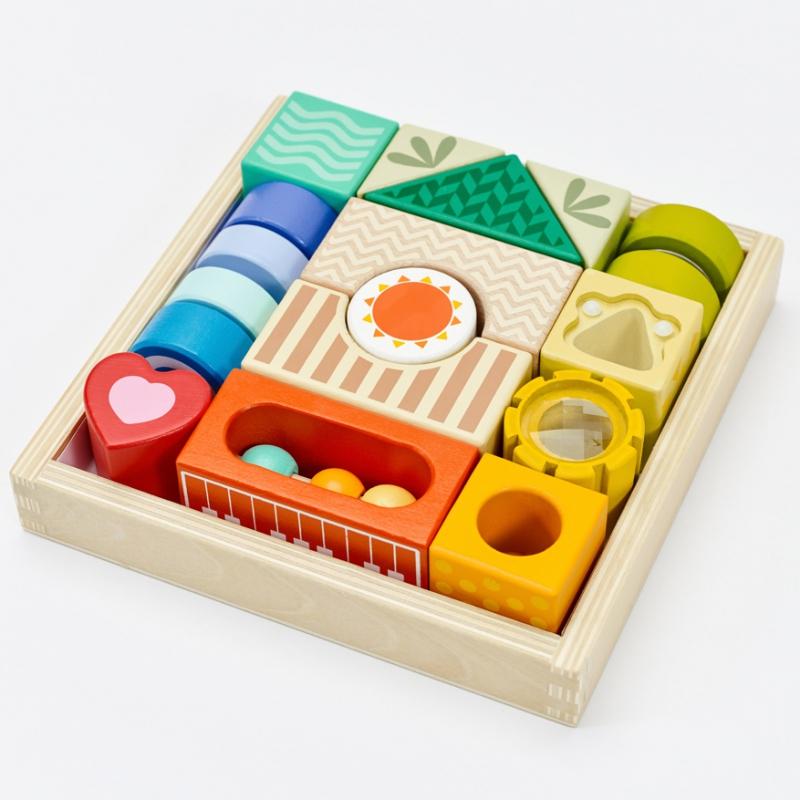 Classic world дървени блокчета със звуци -bellamiestore