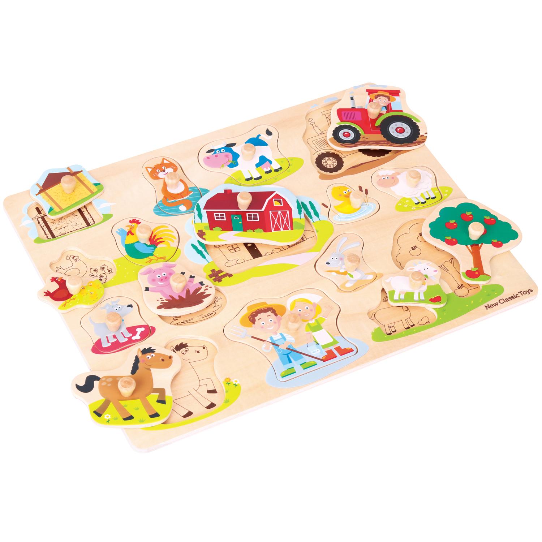 Дървен пъзел за деца Голяма Ферма от New classic toys-bellamiestore