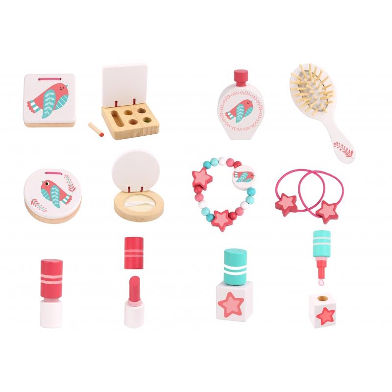 Детска дървена гримьорна с аксесоари от Tooky toy-bellamiestore
