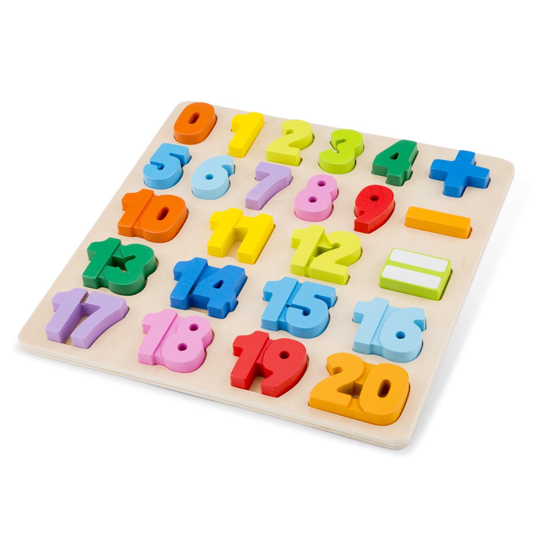 Детски дървен пъзел с цифри от 1 до 20 -bellamiestore
