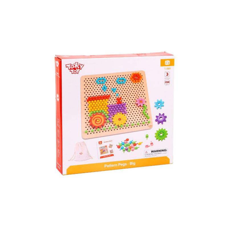 Образователна играчка - дървена мозайка от Tooky toy-bellamiestore