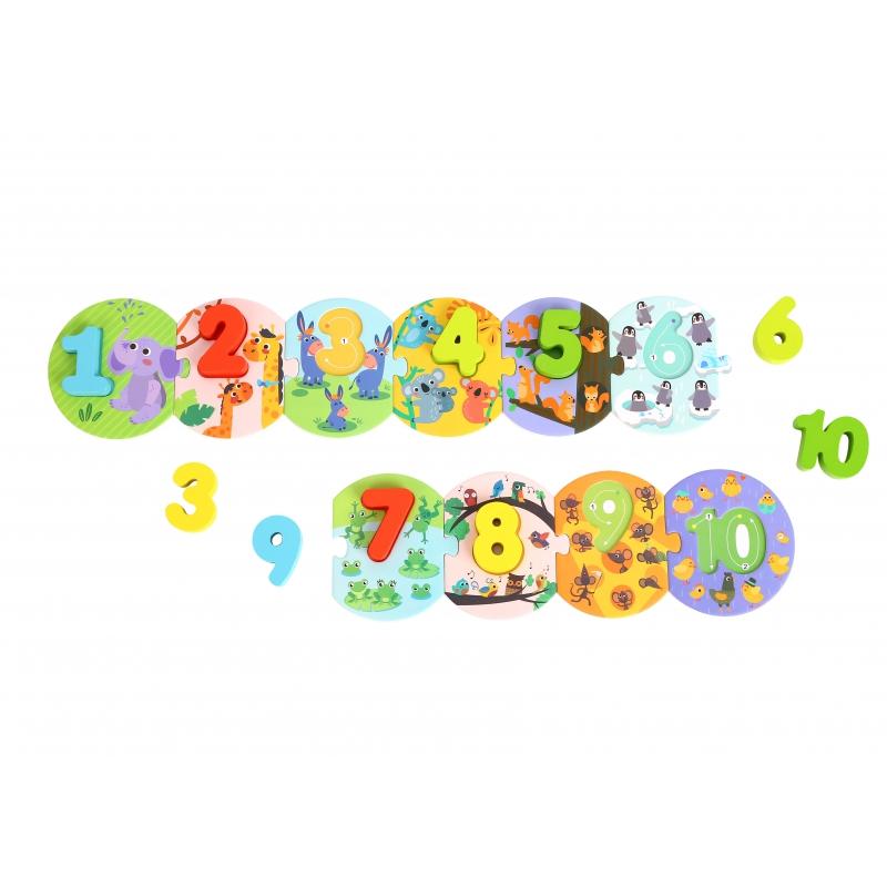 Tooky toy образователен пъзел - Аз се уча да броя -bellamiestore