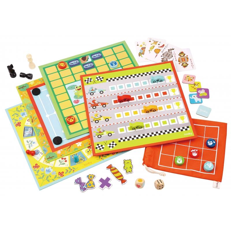 Tooky toy Комплект от 18 класически настолни игри-bellamiestore
