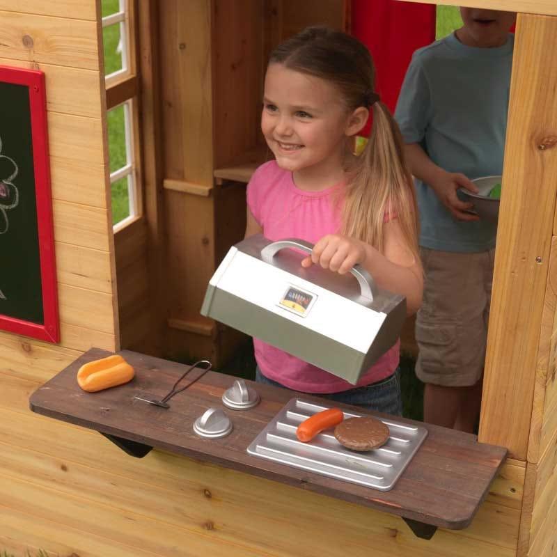 Kidkraft Модерна дървена къща за игра на двора-bellamiestore
