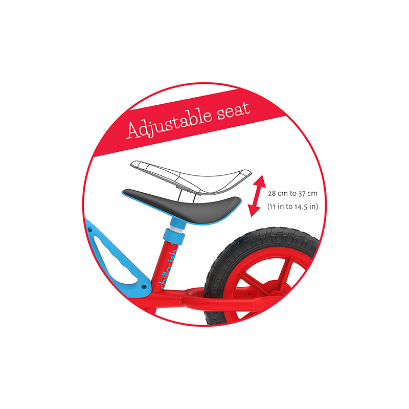 Червено колело за балансиране Charlie от Chillafish-bellamiestore