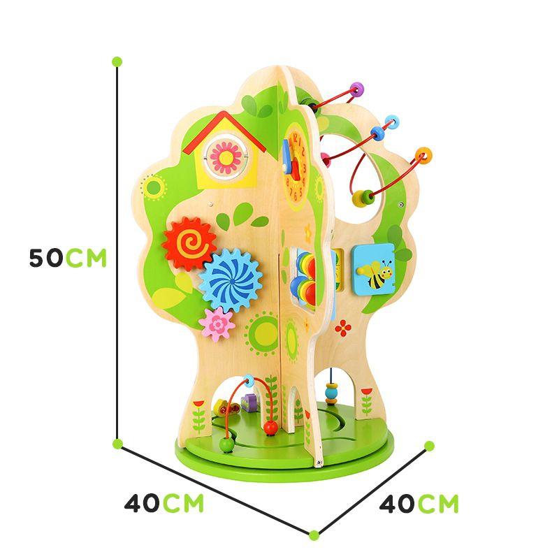 Дървена играчка с активности Дърво от Tooky toy-bellamiestore