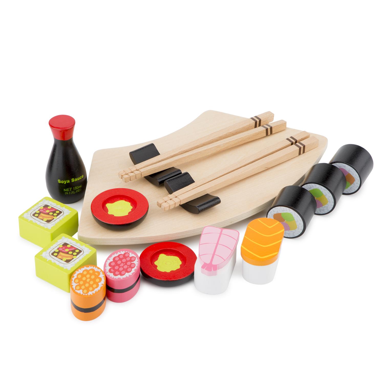 Дървена играчка - Суши сет за игра от New classic toys-bellamiestore