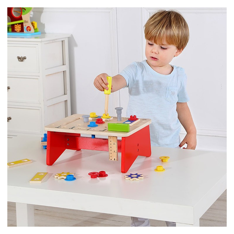 Дървена работилница с инструменти Tooky toy-bellamiestore
