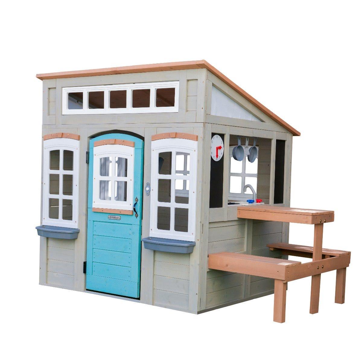 Детска къща за двора от дърво Престан - Kidkraft-bellamiestore