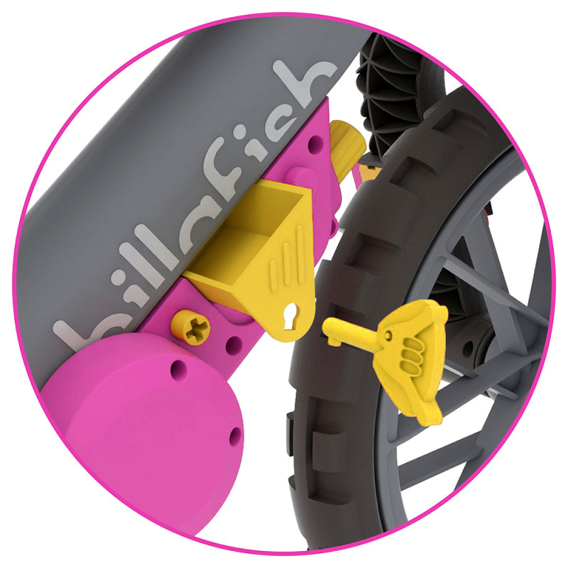 Детско баланс колело BMXIE Мото розово от Chillafish-bellamiestore