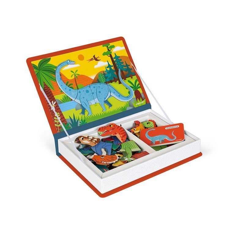 Janod Магнитна книга Динозаври-bellamiestore