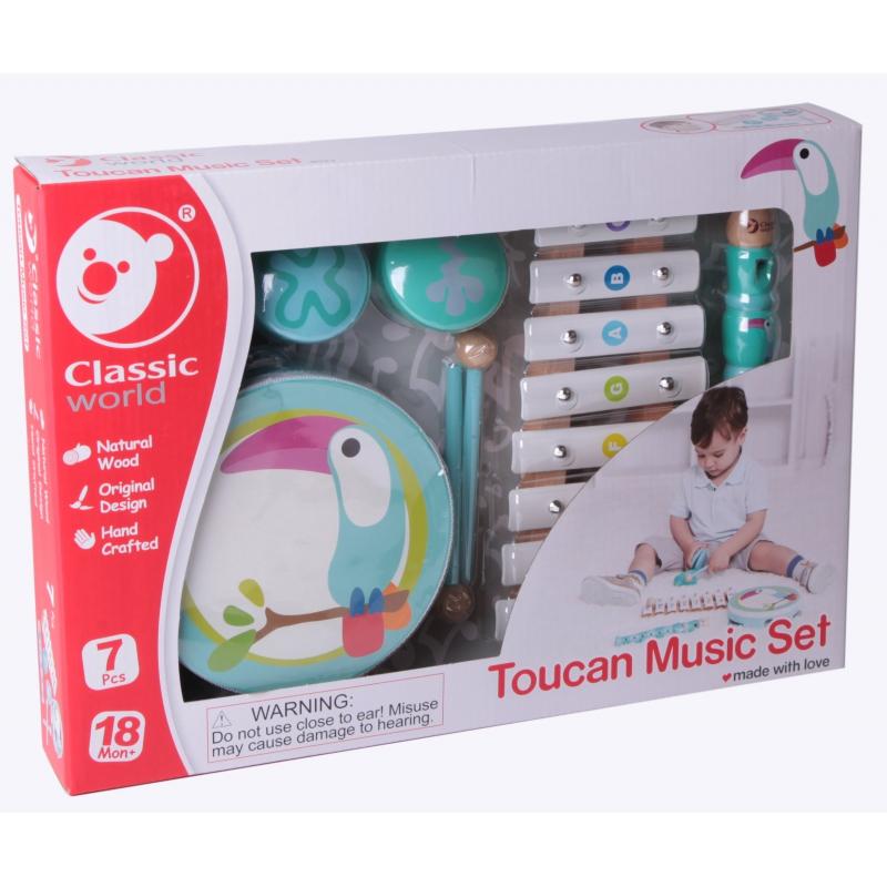 Комплект от детски музикални инструменти Тукан от Classic World-bellamiestore